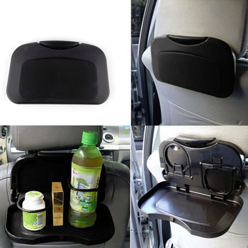 Car Tray Food Stand Rear Seat Beverage Rack Water Drink Holder Bottle Travel Mount Accessory Foldable Meal Cup Desk Table image