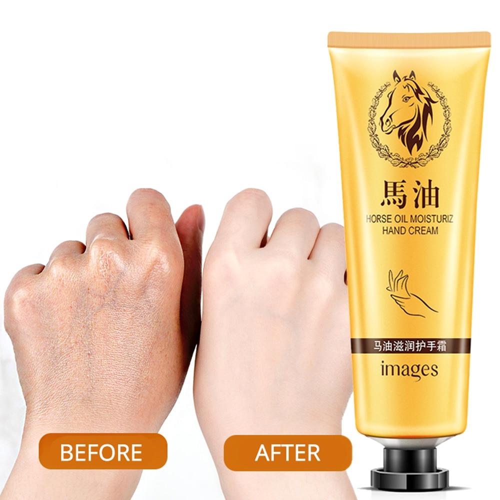 Hand Creams Repair Anti Chapping Crack Dry Horse Oil Hand Cream Lasting Moisturizing Nourish Whitening Hand Skin Care TSLM1