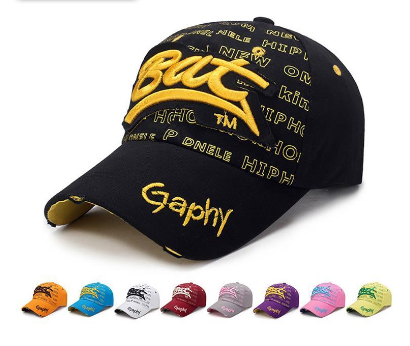 Sand Washed 100% Cotton Baseball Cap Hat For Women Men Vintage Dad Hat Bat Embroidery Letter Outdoor Sports C Gorras Hombre
