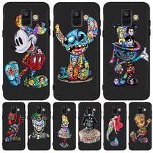 cartoon cute hot  Groot Joker Stitch marvel For Samsung Galaxy A9 A8 A7 A6 A5 A3 J3 J4 J5 J6 J8 Plus 2017 2018 phone Case Coque for samsung galaxy j3 j5 j7 j8 j6 j4 plus 2017 2018 funda coque capa luxury cute marvel hero avengers etui phone case spider man