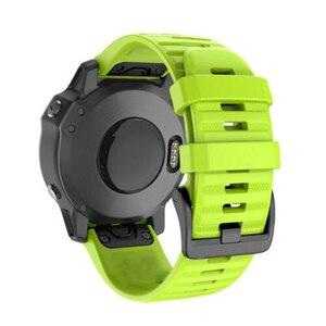 Image 4 - 26, 22, 20 мм, ремешок для смарт часов Garmin Fenix 6X 6 6s Pro 5S плюс 935 3 HR часы, быстросъемный силиконовый легко регулируемый ремешок для наручных часов