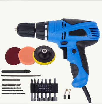 цена на 800W Electric Drill Screwdriver 220V Multifunction Torque Double Reduction Power Drill Rotary Tool Torque Electric Drill