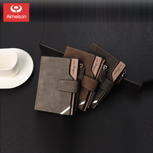 Men's and women's purse short Korean vertical multi-functional wallet creative personality student multi Card Wallet