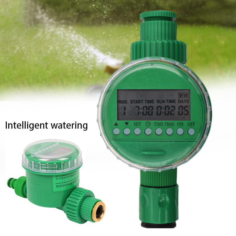 Automatic Intelligent Water Timer Garden Watering System Electronic LCD Display Home Ball Valve Irrigation Controller System|Garden Water Timers|Home & Garden - title=