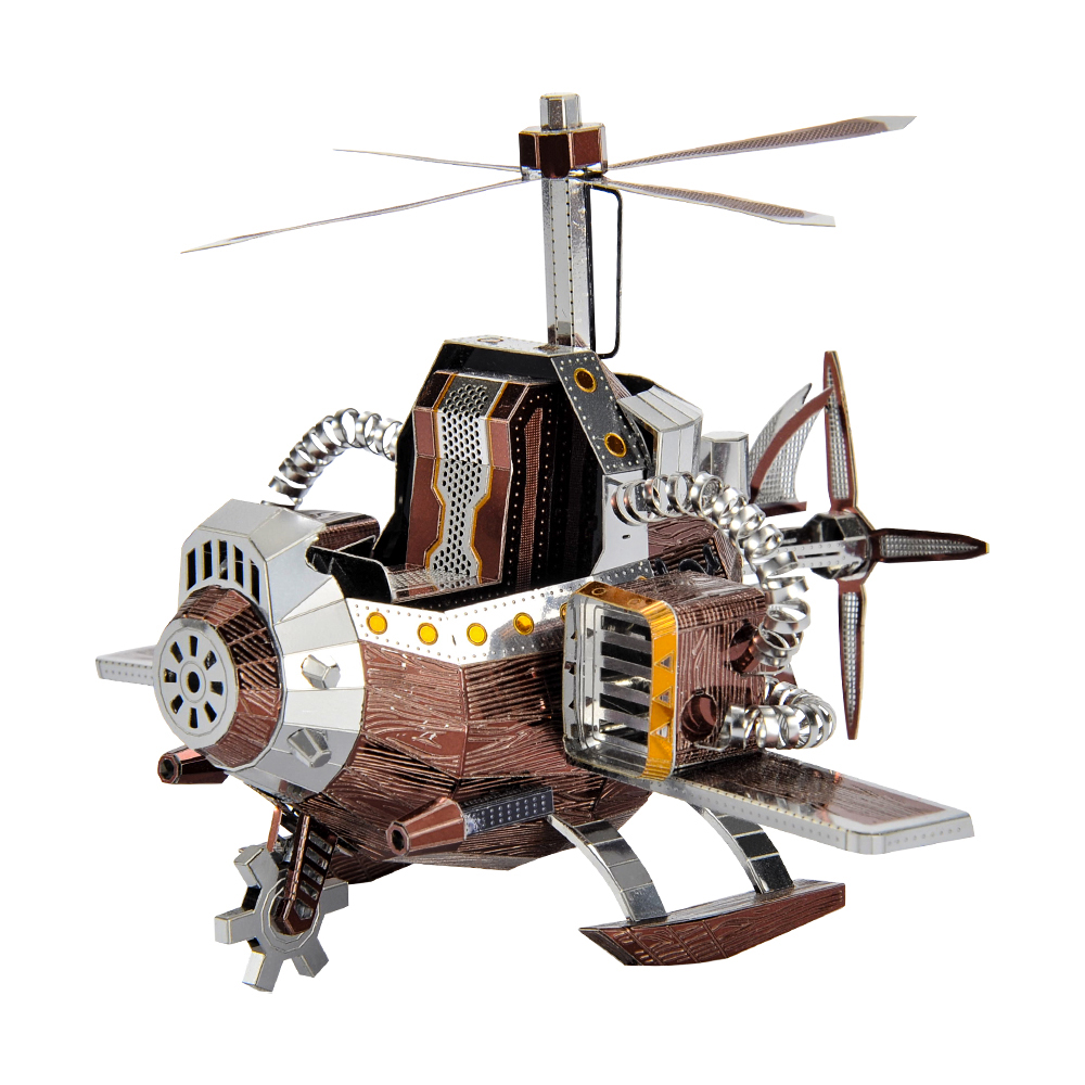 MMZ MODEL 3D Metal Puzzle Microworld Models Field Rescue Aircraft Model DIY Laser Cutting Jigsaw Puzzle  Toys For Adult Gifts