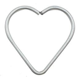100 шт античные серебряные подвески в виде сердца