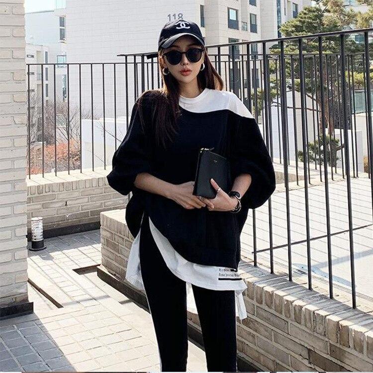 2019 South Korea Dongdaemun Spring New Style WOMEN'S Dress Fake 2-Piece Casual Fashion Trousers Set