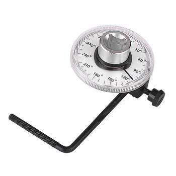 360 stopni kąt skrętny miernik nachylenia regulowany kąt skrętu klucz skrętny środek narzędzie pomiarowe samochodu zestaw pasuje 1 2 #8222 dr narzędzia tanie i dobre opinie 190g metal plastic