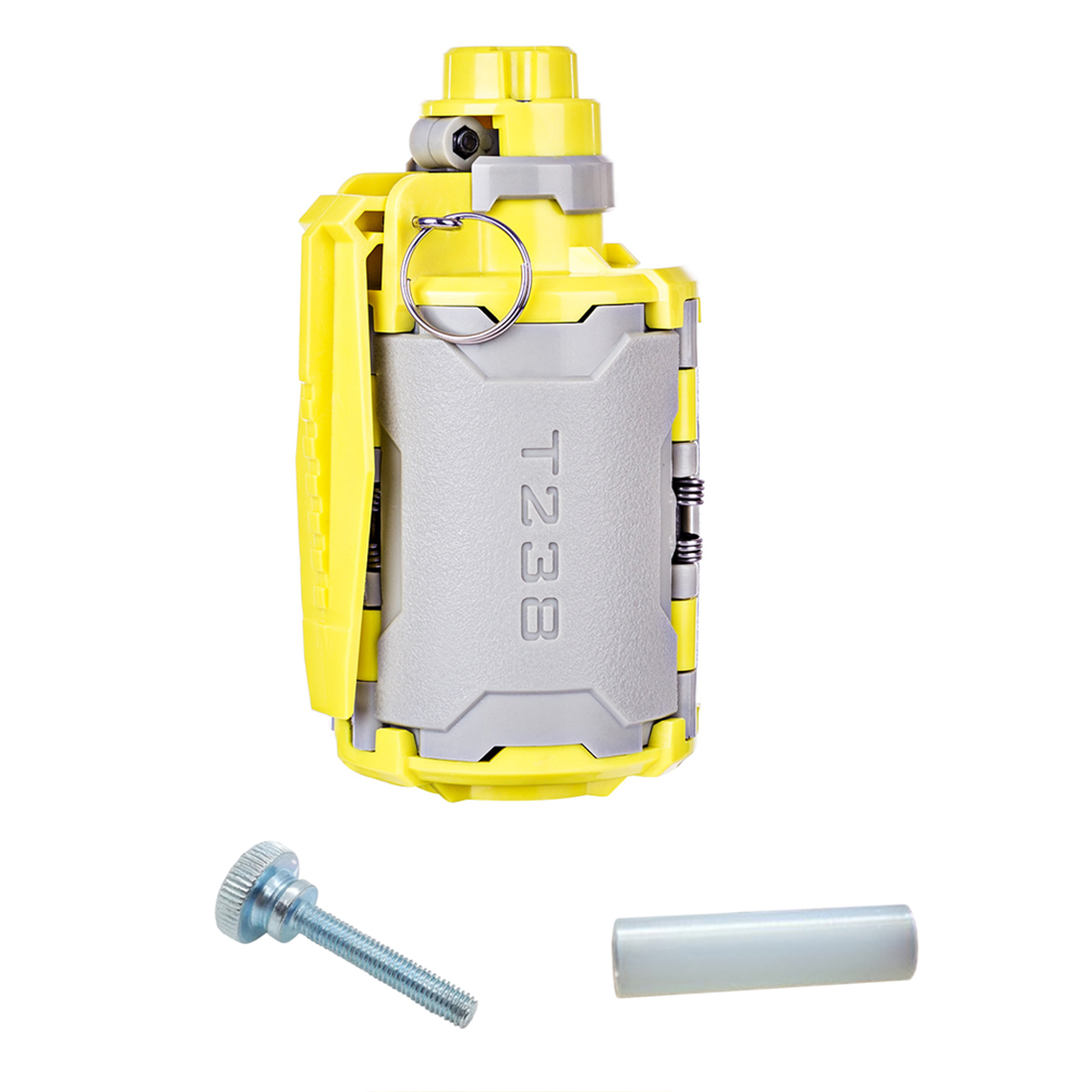 New T238 V2 Large Capacity Grenade Toy With Time-Delayed Function For Gel Ball BBs Airsoft Wargame +Thumb Knob Bolts+Screw Nut