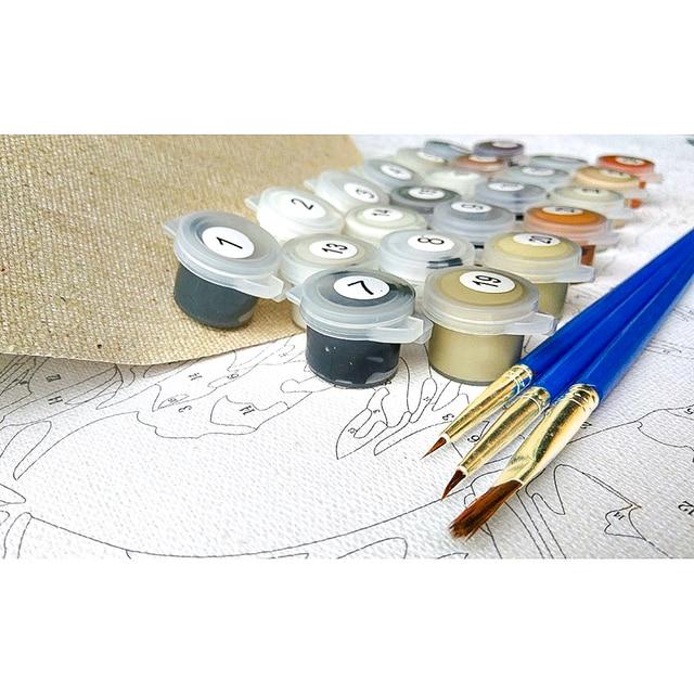 Купить набор для рисования по номерам на холсте с цветком кофе картинки цена