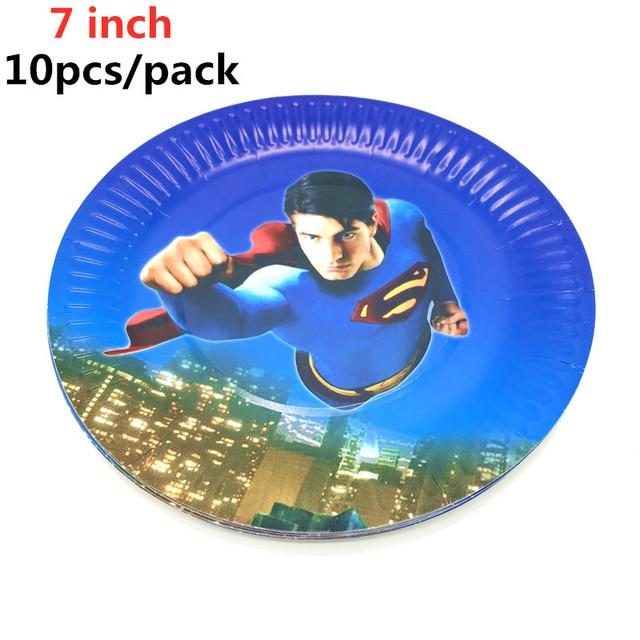 Hot Superman super-héros thème fête fournitures fête décoration anniversaire papier tasses assiettes bannières pailles enfants jouets garçon bébé douche