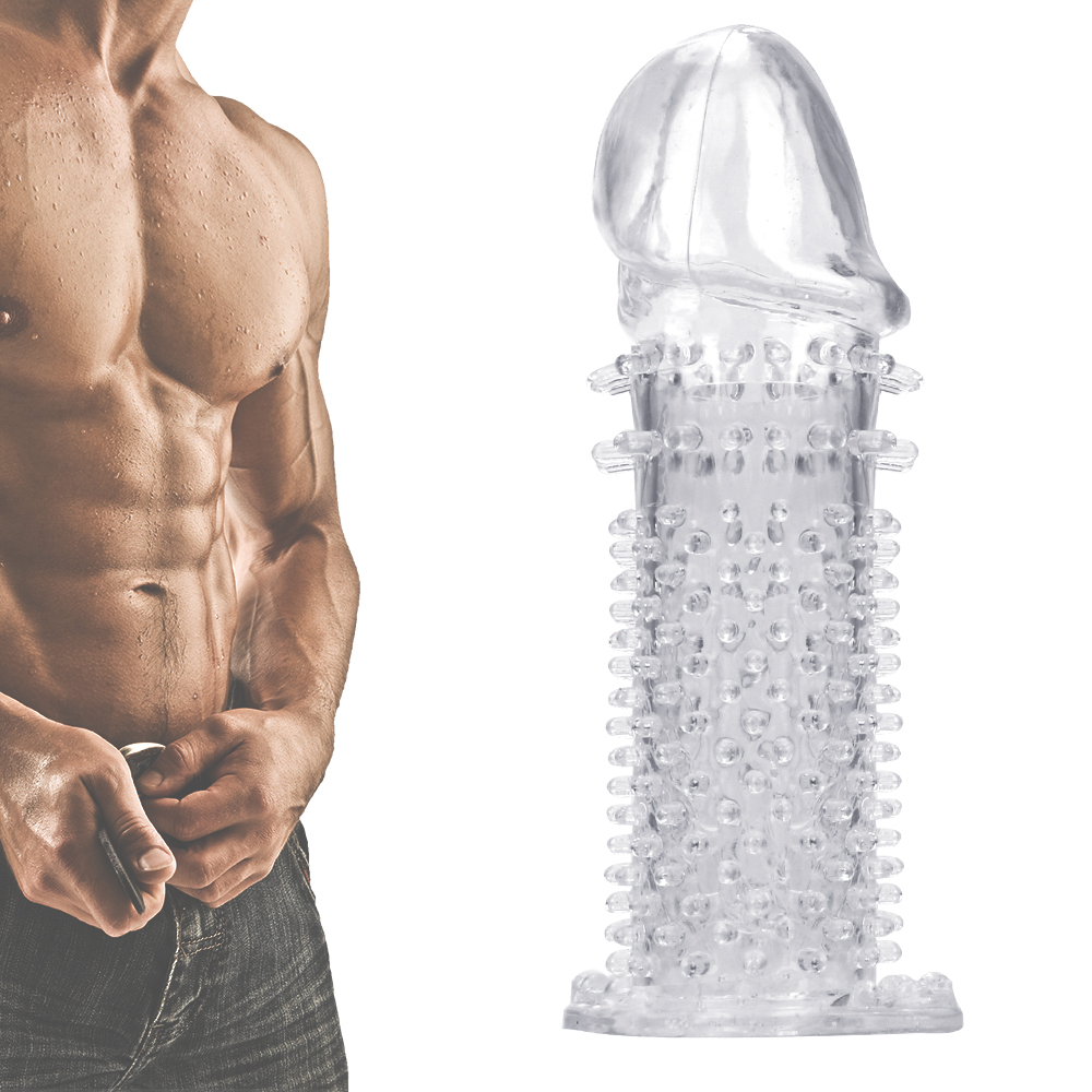 G-spot Stimulation Cock Sleeve Penis Sleeve Reusable Condom Sex Toys For Men Delayed Ejaculation Enlargement Penis Rings
