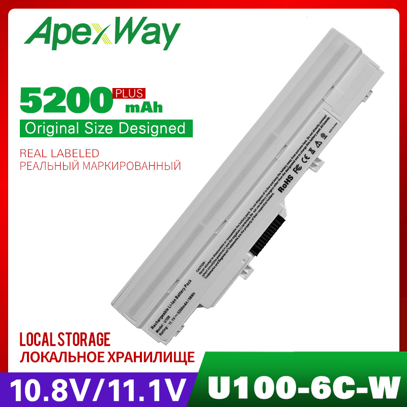 5200mAh laptop battery for MSI Wind U210 006US U230 U100 U90 U200 U210 for LG X110 for MEDION Akoya Mini E1210 BTY S11 BTY S12 in Laptop Batteries from Computer Office