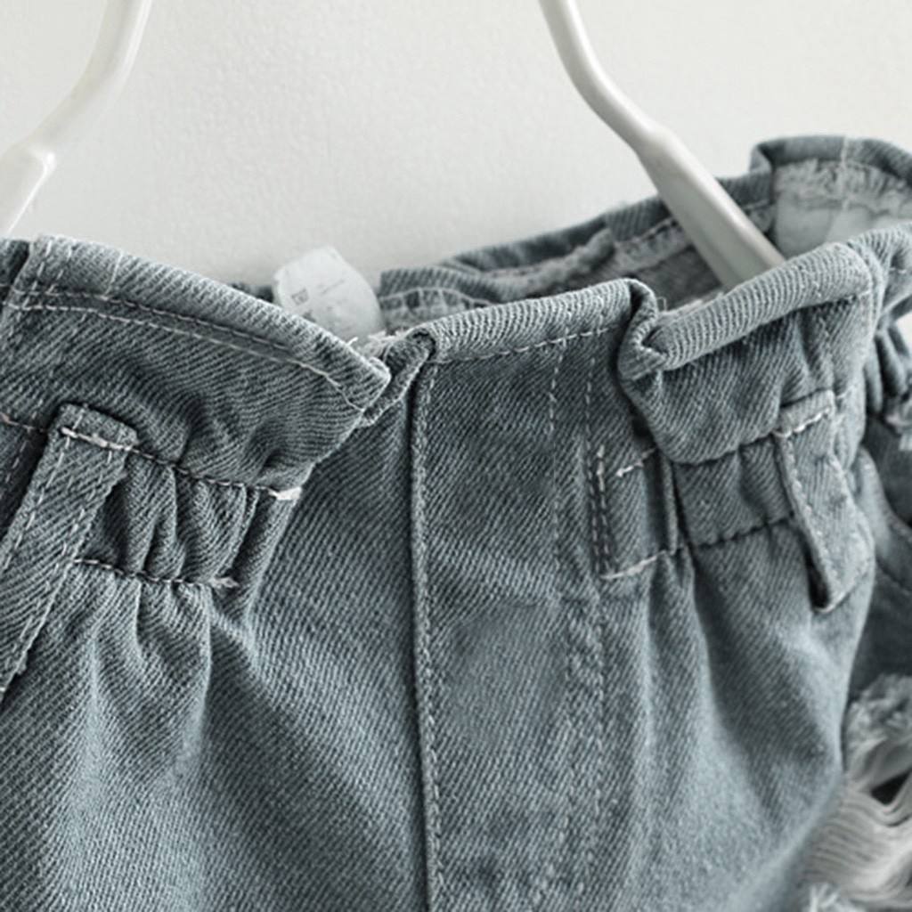 baby girl summer clothes Toddler Kids Baby Girl Outfits Clothes Embroidery T-shirt+Denim Shorts Jeans Set 4