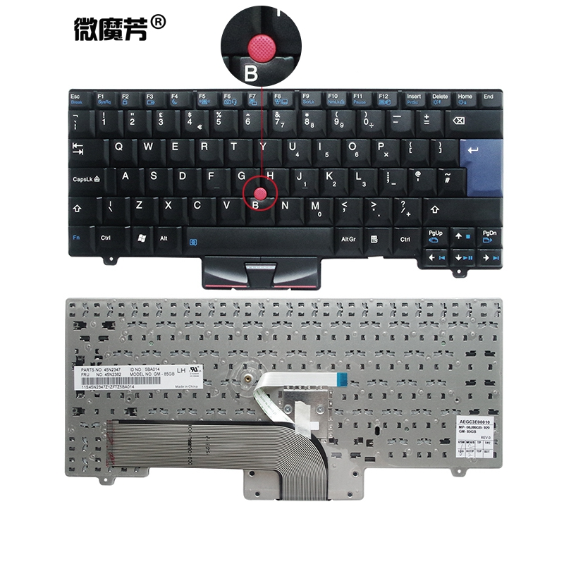 UK New Keyboard FOR LENOVO FOR Thinkpad SL410 L410 SL510 L420 L410 L510 L412 L512 L520 L421 SL410K SL510K Laptop Keyboard