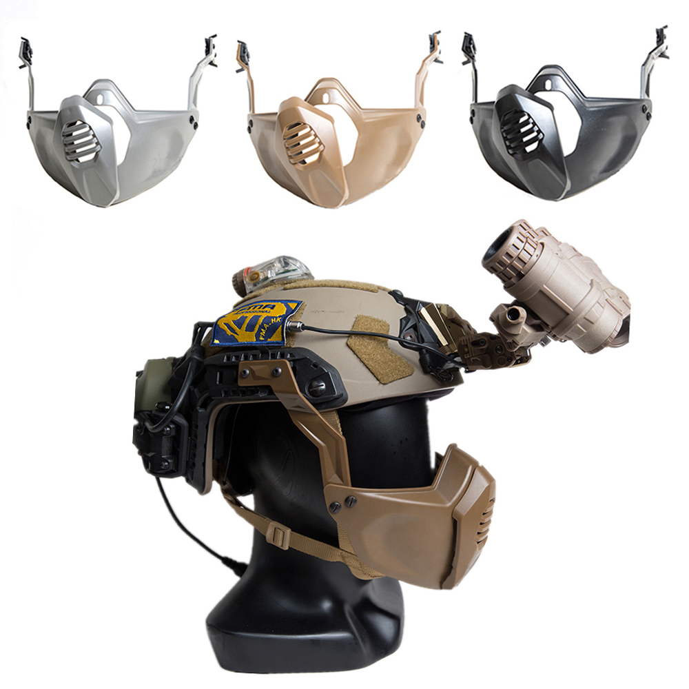 Tactical Airsoft Mask Half Face Mask Adjustable With Helmet Rail Mask Cover Protective CS Sport Hunting Paintaball Warrior Masks