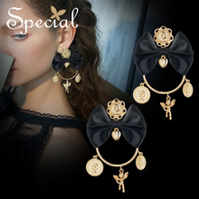 Special European and American retro 925 silver needle earrings ear nails no hole clip showing thin dream party