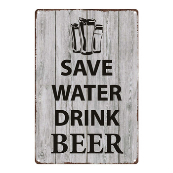 Save Water Drink Beer Plate