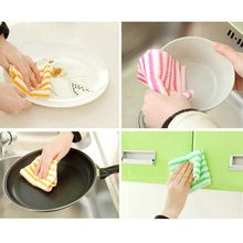Kitchen Cleaning Rag Dish Towel Microfiber Dish Cloth Car Wash Glass Cleaning Cloth Highly Absorbent(China)