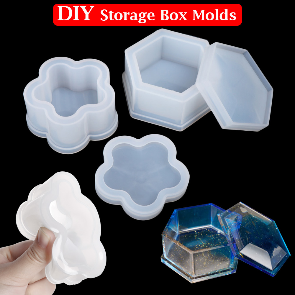 Making Props Epoxy Resin Silicone Casting Mould Storage Box Molds Crystal Glue