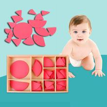 Wooden Mathematics Fraction Division Circles Teaching Aids Educational Toy Montessori Concept Education Toys Gift For Babies 1000pcs box three dimensional block mathematics teaching aids montessori learning material toys puzzle science educational toy