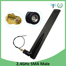 10pcs 2.4Ghz Wifi antenna 8dbi SMA Male  Omni-Directional 2.4 ghz antenne Router wi fi Antena +21cm RP-SMA Male Pigtail Cable цена и фото
