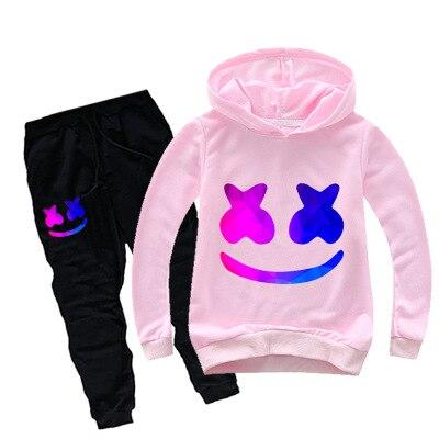 Kid Sweatshirt//Pants//Mask Set cosplay DJ Marshmello Costume Boy And Girl Sweater