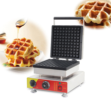 Commercial 1PC Big Belgian Liege Waffles Baker Maker Nonstick Waffle Iron Machine Sandwich Maker Cake Oven CE 110V 220V недорого