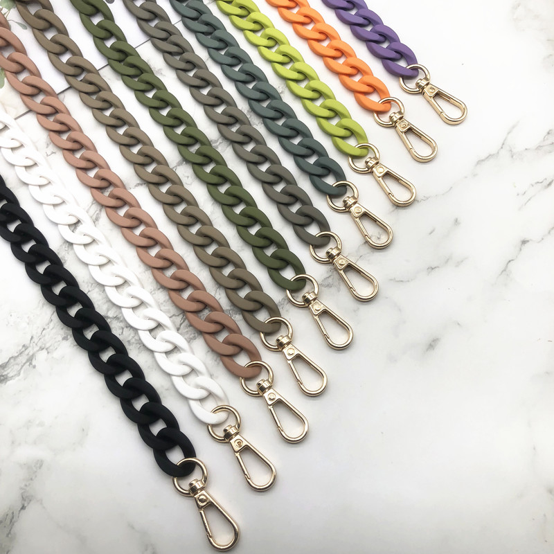 Fashion Matte Acrylic Chains For Women Bags Colorful Shoulder Strap Purse Handbag Luxury Handle Crossbody Belts Bag Accessories