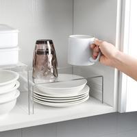 Estante de almacenamiento de acrílico en capas, divisor y organizador de gabinetes de cocina, estantes de escritorio transparentes para el hogar