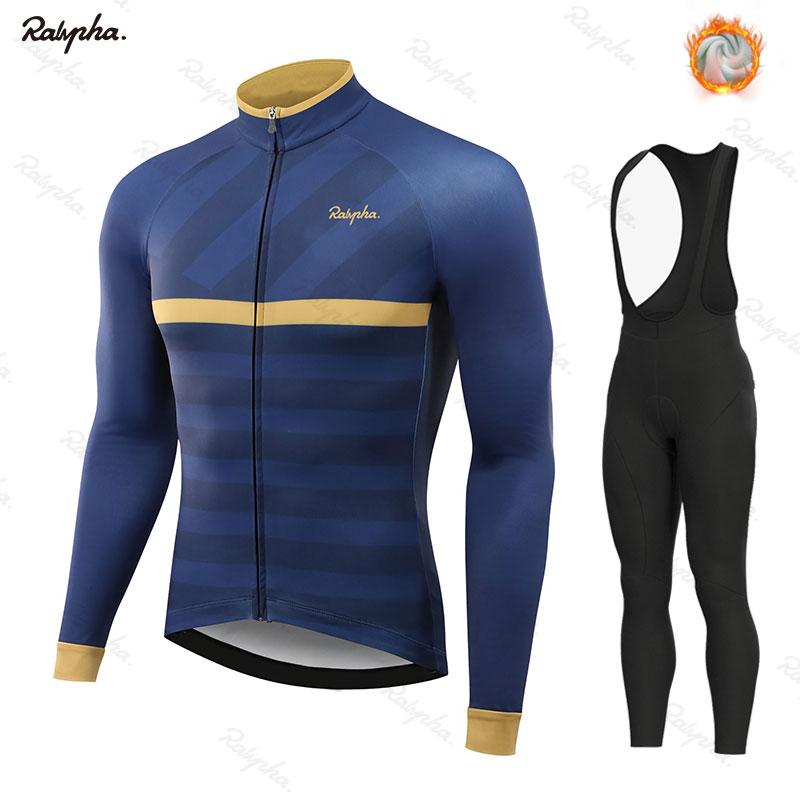 Abbigliamento Da Ciclismo invernale Rahaing Manica Lunga Abbigliamento Equitazione Jersey Set In Pile Termico Maillot Ropa Ciclismo Invierno Tenere In Caldo