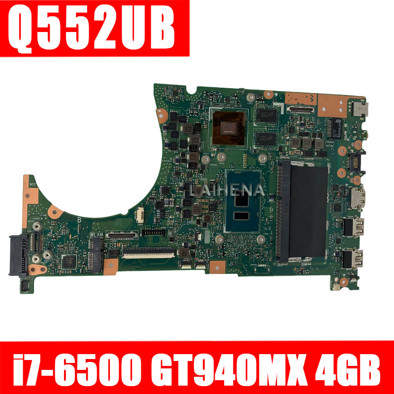 Q552UB Laptop Motherboard For ASUS Q552UB Q552U Q552 Test Original Mainboard 90NB0A90-R00010 4G RAM I7-6500U CPU GT940MX/2GB