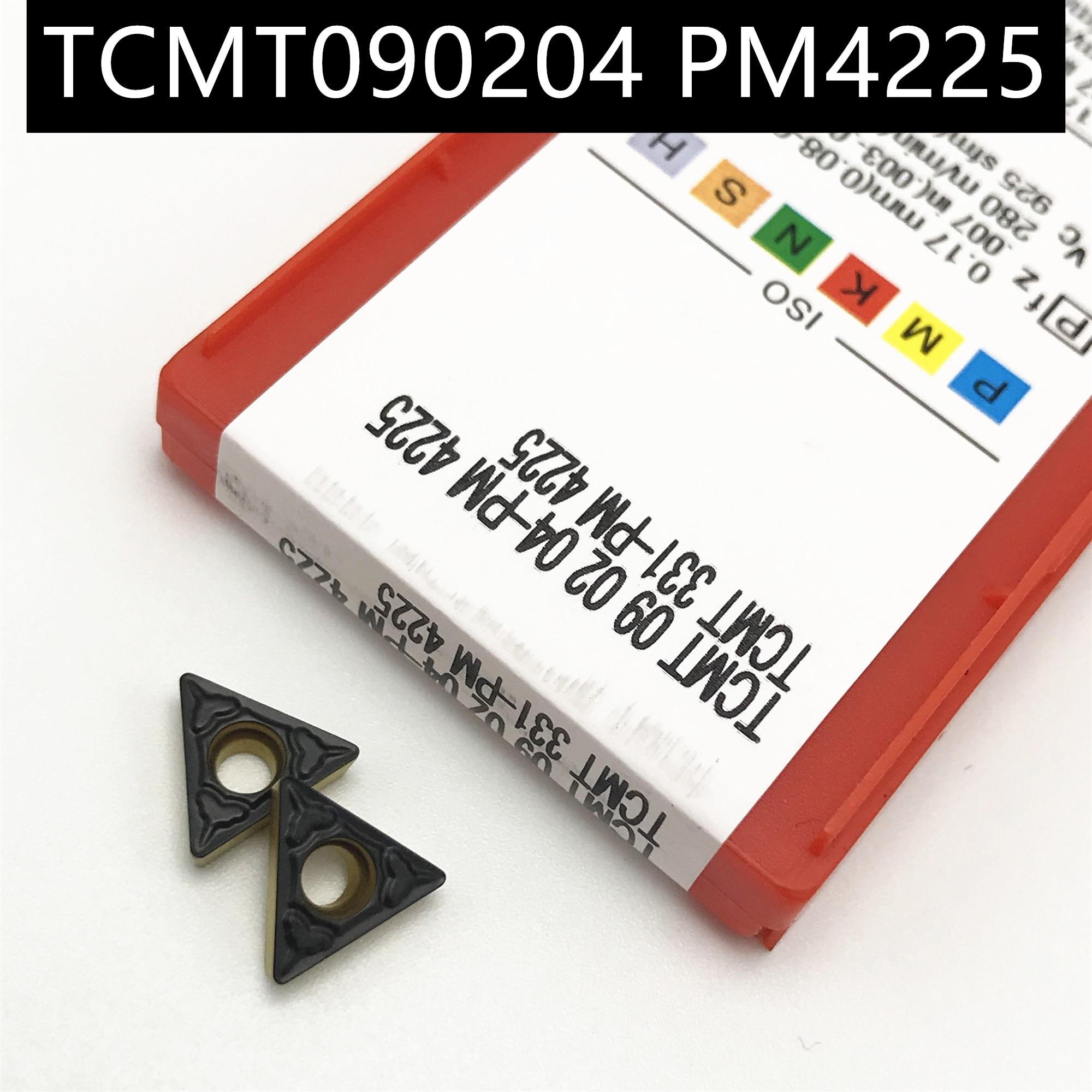 10PCS TCMT090204 PM 4225 Carbide Insert Turning Tool Turning Milling Cutter CNC Cutting Tool Slot Cutting PM 4225