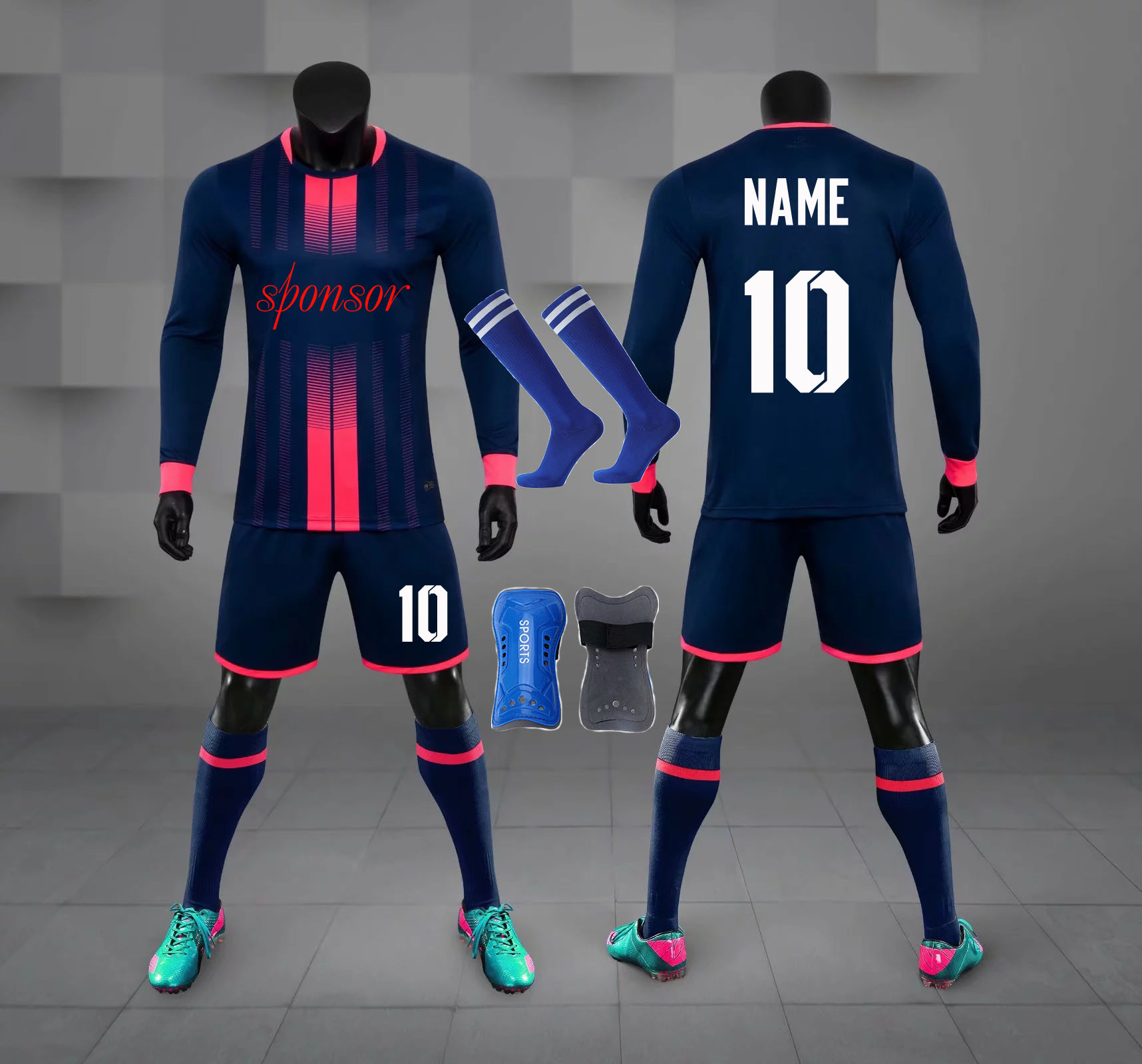 20//21  Adult Mens Football Survetement Kids Boys Tracksuit Soccer Sports Outfits