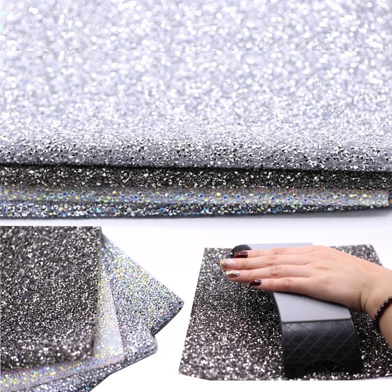 Diamond Nail Art Table Mat Salon Practice Cushion Glitter Pad Pillow Hand Holder Foldable Scrub Hand Rest Manicure Tools