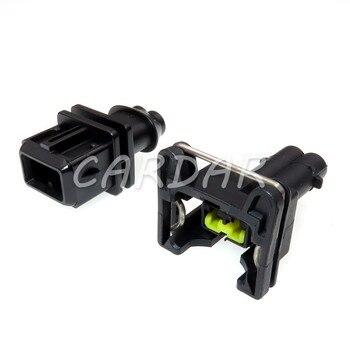 1 Set 2 Pin Automotive Car Engine Fuel Injector Connector Oil Sensor Plug Automotive Socket недорого