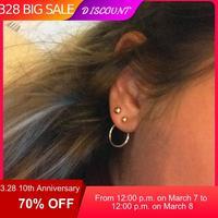 CARTER LISA bijoux fantaisie or/argent mignon or couleur géométrique cercle métal boucles d'oreilles cadeau pour femmes fille pendientes