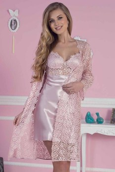 Women Silk Satin Ruched Evde Wearable Comfortable Soft Women Pajamas set Inside 6 Parça Found In Sizes S M L XLC6125