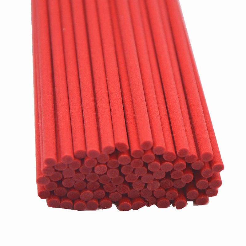 100PCS 22cmx3mm Red Fiber Rattan Sticks Essential Oil Reed Diffuser For Home Fragrance Diffuse  Air Freshener