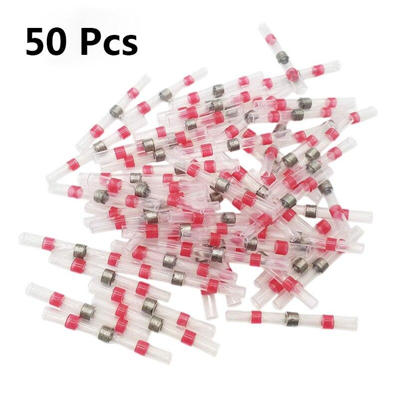 Термоусадочные паяльные втулки, клеммы, 10/20/50 шт., изолированные водонепроницаемые стыковые соединители для проводов, припаянные клеммы для...