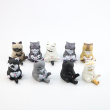 9 pcs  Cat Bells Anime Figure Cartoon Kawaii Cat Neko Kitty Pet Model Figure Doll Toys Gifts Pet Decoration Figure Collectiion 19cm anime my little sister can t be this cute action figure black cat kuro neko white dress ver model pvc decoration doll efi5
