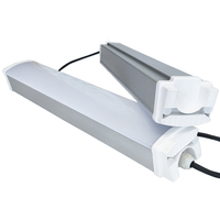 IP65 T8 LED Tri Proof Lighting CE RoHS UL Batten Tube Fixture Lamp 1.5m 5FT 60W 80W Project Building Office Market Light