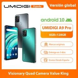 UMIDIGI A9 Pro смартфон 48MP Quad Camera 24MP селфи камера 6 ГБ 128 Helio P60 Octa Core 6,3 дюймFHD + безрамочный экран Глобальная версия мобильного телефона