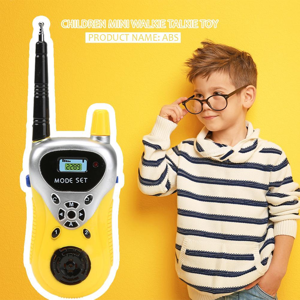 2pcs Intercom Electronic Walkie Talkie Environmentally Protection ABS Plastic Kids Children Portable Two-Way Radio Toys