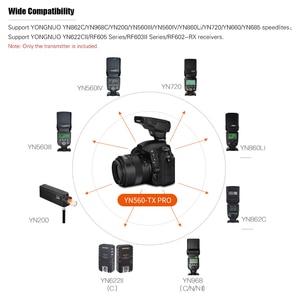 Image 2 - Yongnuo transmissor sem fio do gatilho flash da câmera profissional 2.4g para câmera canon dslr yn862/yn968/yn200/yn560 speedlite