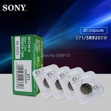 20 pces para sony original 371 sr920sw 920 lr920 ag6 lr920 lr69 171 1.55v único grão embalagem óxido de prata relógio bateria