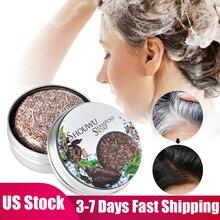 Polygonum Essence Hair Darkening Shampoo Soap Natural Organic Mild Formula Hair Shampoo Gray Hair Reverse Anti Loss Hair Care