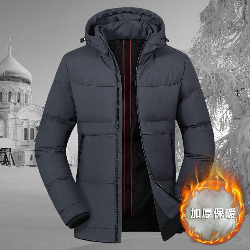 Winter Jacket Men 2019 Thicken Warm   Parkas   Male Hooded Coat Man Warm Zipper Jackets and Coats Male Outwear Jaqueta Masculina Hot