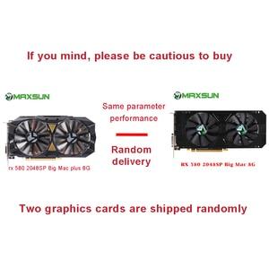 Image 2 - MAXSUN видеокарта rx 580 2048SP Big Mac 8G grafikkarte GDDR5 256bit AMD 7000MHz 1168 MHz 1284 MHz HDMI + DP * 3 + DVI RX580 video karte