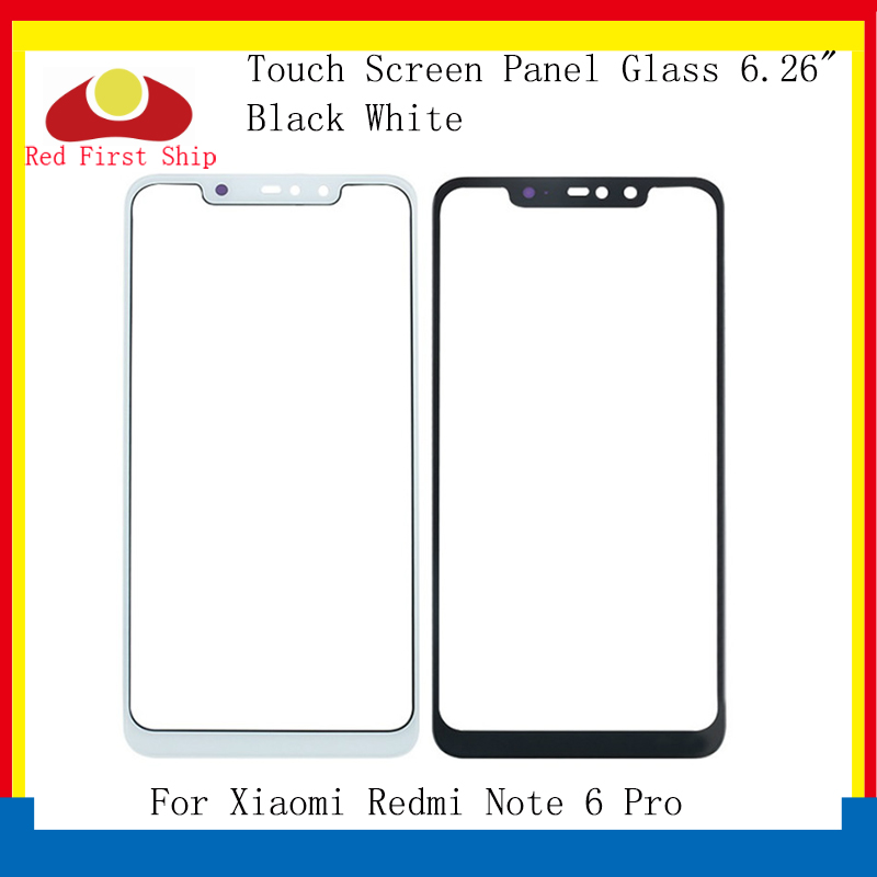 10Pcs lot Touch Screen For Xiaomi Redmi Note 6 Pro Touch Panel Front Outer LCD Glass Lens Note 6 Pro Touchscreen Replacement in Mobile Phone Touch Panel from Cellphones Telecommunications